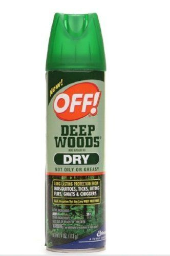Off! Deep Woods Dry Insect Repellent VIII 4 oz cans (3 Pack)(Repels mosquitoes, ticks, biting flies, gnats and chiggers) * Want additional info? Click on the image.