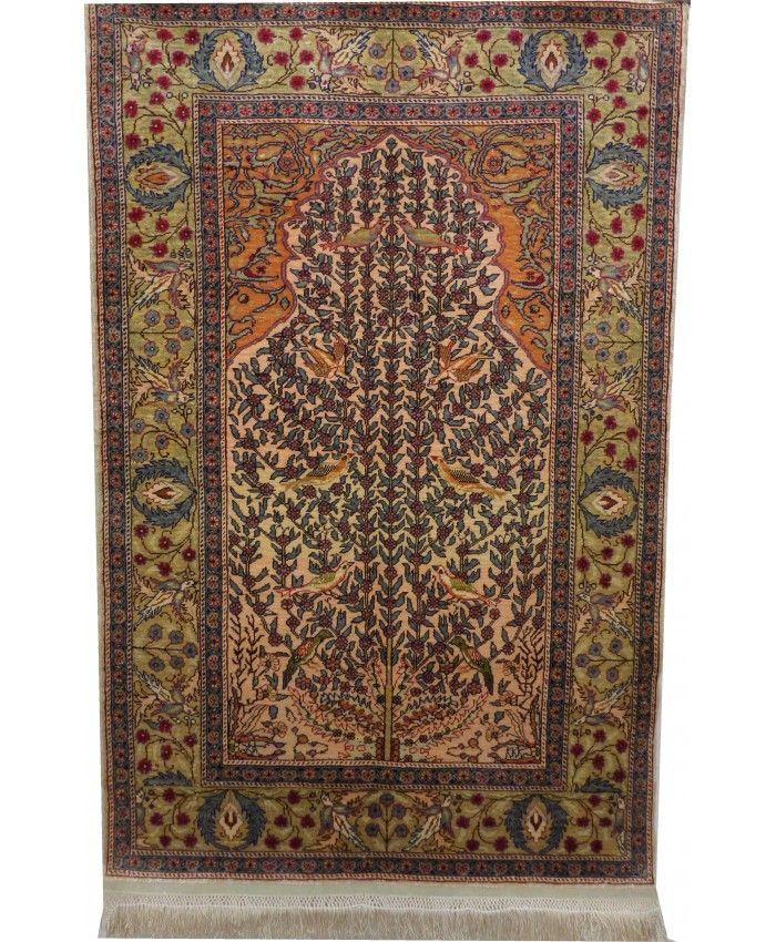 Handmade Turkish Kayseri Original Silk Carpet –…