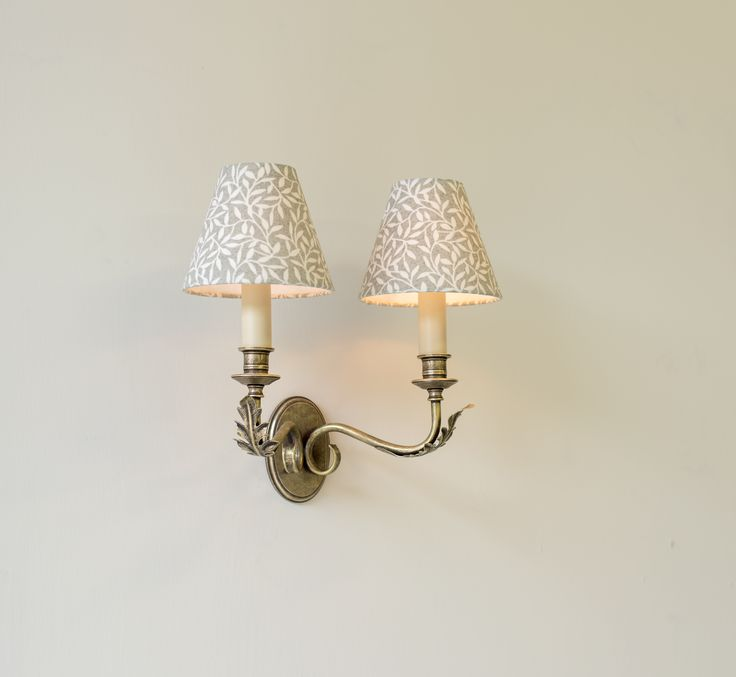 A beautifully #handmade #wall #light featuring a pair of arms with #Acanthus #leaf detailing giving it a Rococo feel.