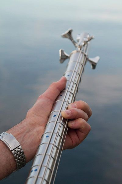 Stash Stainless Bass Guitar neck - Now that's an interesting idea...