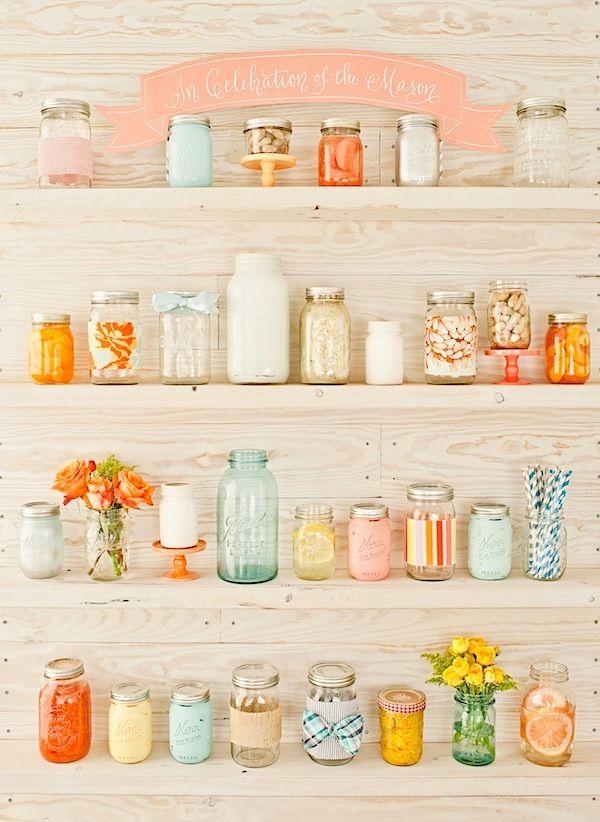Mason jar love!
