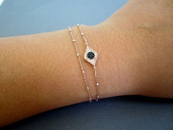 Evil eye Bracelet Layered Bracelet good luck bracelet by Muse411, $56.00 @Denise H. Erickson to buy or not to buy?
