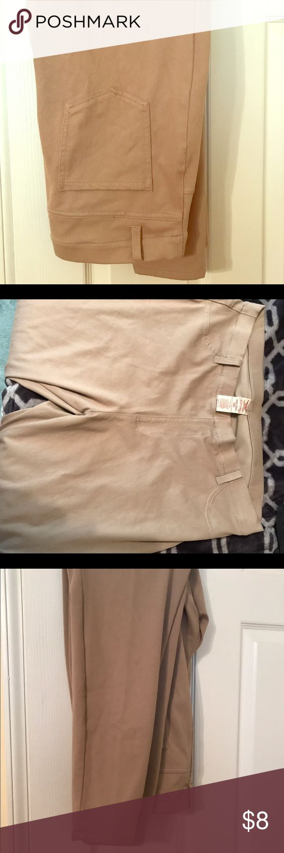 2XL Khaki Jeggings BNWOT Brand new without tags khaki jeggings from Faded Glory. Real pockets and fit like skinny jeans. Faded Glory Pants Skinny