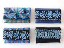 Sanabel: Blau,blau Kosmetiktäschchen aus Palästina