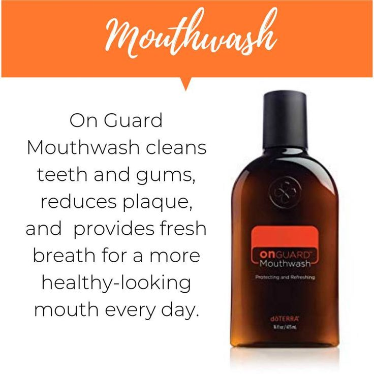 Doterras on guard mouthwash naturally cleans and freshens