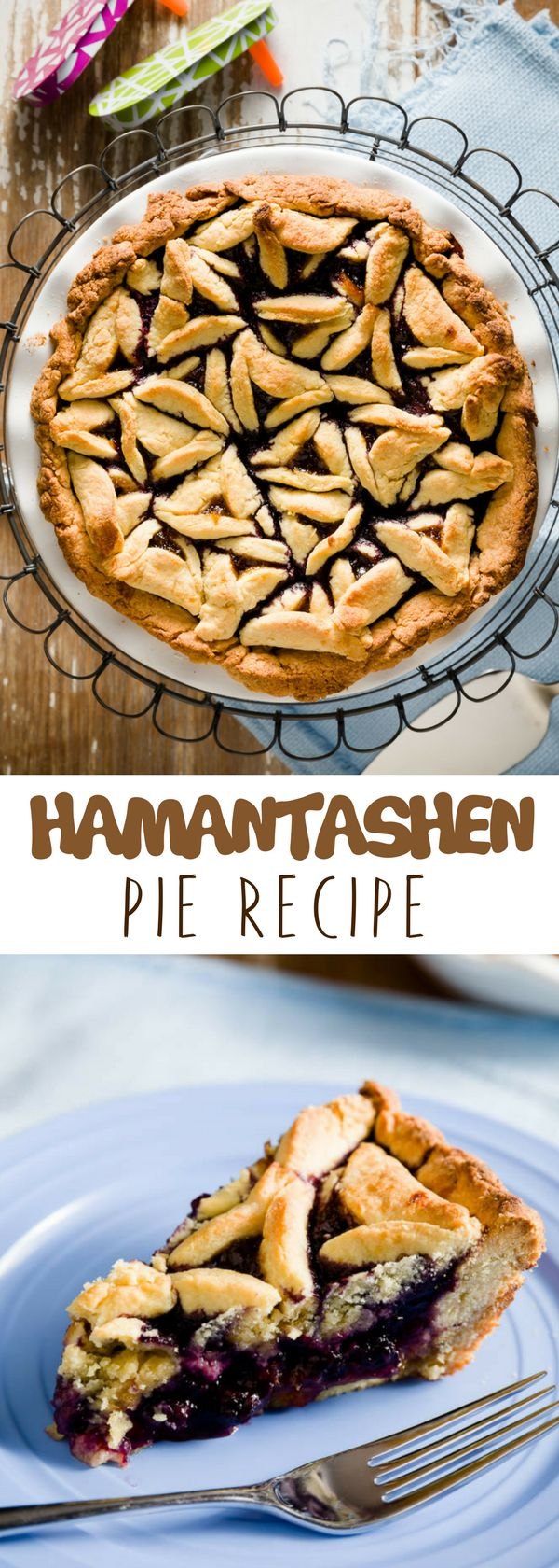 Looking for unique pie recipes made from scratch? This Hamantashen Pie  is topped with a layer of jam that would yield an overly sweet pie. For more simple baking desserts recipes and homemade sweet treats, check us out at #cupcakeproject. #desserts #yummydesserts #recipeoftheday #sweettooth