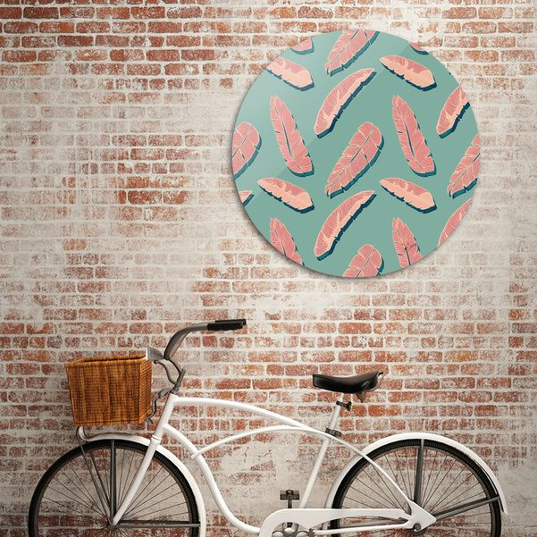 Discover «Falling Pink Leaves», Limited Edition Disk Print by DesigndN - From 95€ - Curioos