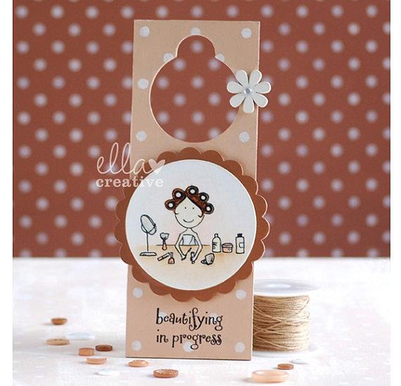 Beautifying In Progress Door Hanger by EllaCreative on Etsy, £20.00