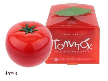 Tomatox Magic White Massage Pack 80 gram  IDR 130,000   Tomatox magic white massage pack adalah mask multi-fungsional dan kandungannya yang berisi air dan bahan-bahan diekstraksi dari Tomat. Hal ini dirancang untuk membawa keajaiban ganda dan instan mencerahkan dan vitalitas dan detoksifikasi efek ke kulit.