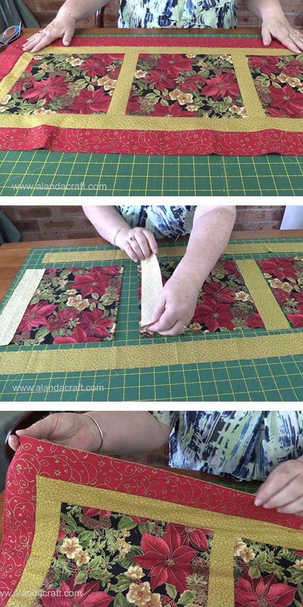 Easy Quilted Christmas Table Runner Christmas Pinterest Table
