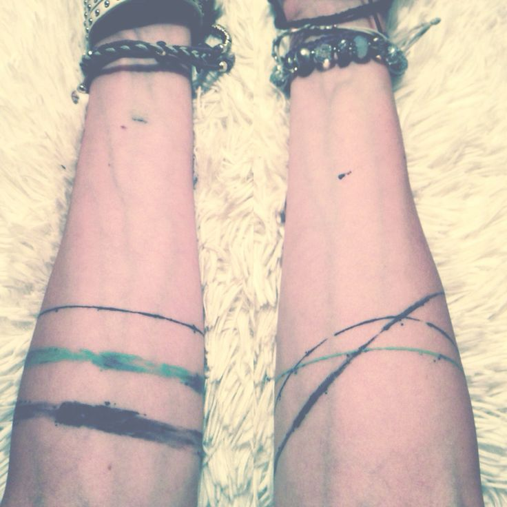 TATTOOS.ORG - Watercolor arm bands, done by Panos , in a great...