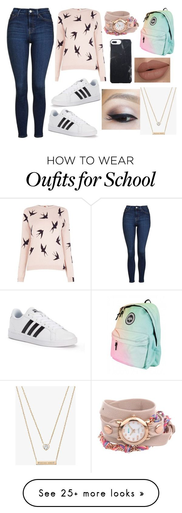 #1396 Casual Day at School by arasshjit on Polyvore featuring Oasis, Topshop, adidas, La Mer and Michael Kors ,Adidas Shoes Online,#adidas #shoes