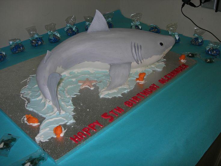 Awesome 3D shark cake!