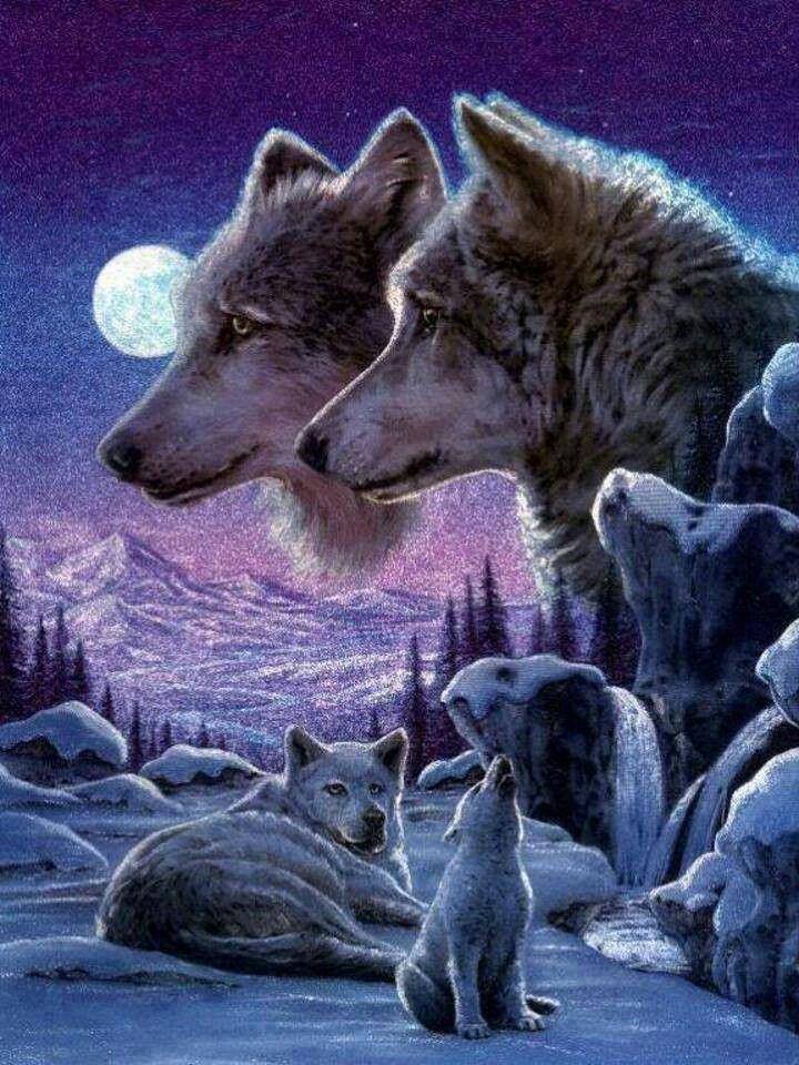Wolf art, beautifully done