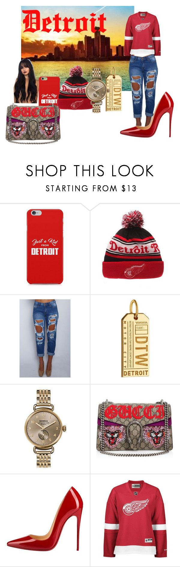 """My City"" by kkeeaannii on Polyvore featuring Zephyr, Jet Set Candy, Shinola, Gucci, Christian Louboutin and Reebok"