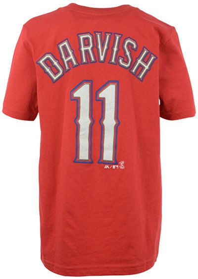 Majestic Boys' Yu Darvish Texas Rangers Official Player T-Shirt