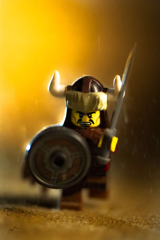 "[Courage] ""It takes less courage to criticize the decisions of others than to stand by your own.""  -Attila the Hun  #lego #legography #nikon #toyphotography"