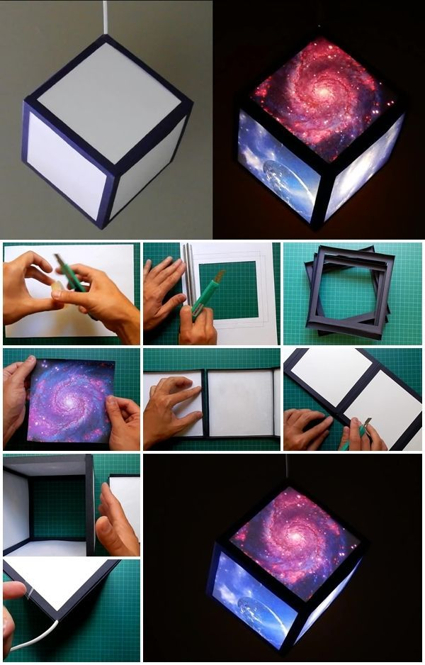 Here's the link to the tutorial >> How to Make Galaxy Cube Lamp << by EzyCraft…
