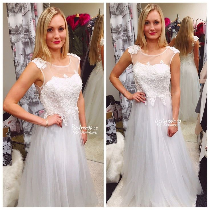 White evening / wedding dress Christine