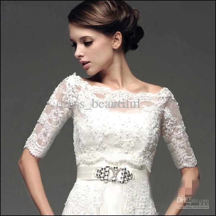 bridal wedding bolero elbow sleeve jacket off shoulder bridal wraps jackets dhgate