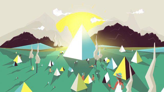 Great #illustration and #2D #animation on BBC Glastonbury festival online platform and app