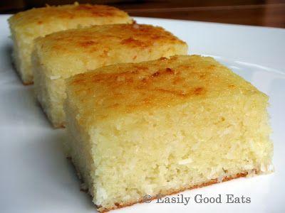 Easily Good Eats: Semolina Yogurt Lemon Coconut Cake Recipe
