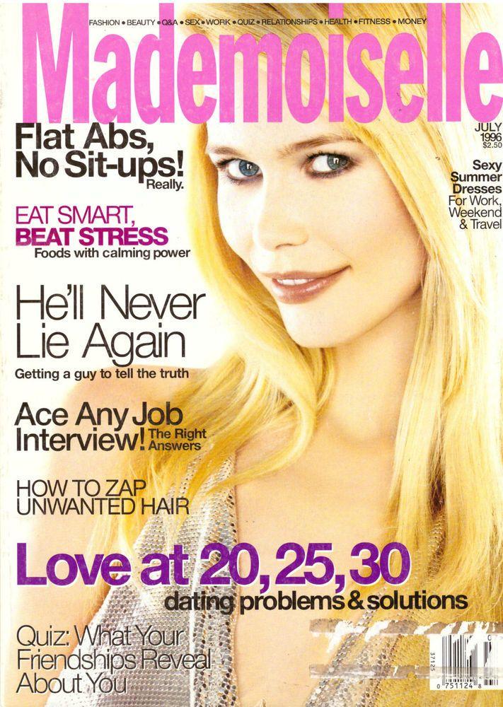 1996 Mademoiselle Magazine Claudia Schiffer Aliens Fashion Vintage VTG Ads #Mademoiselle