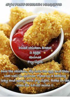Slimming world style chicken nuggets