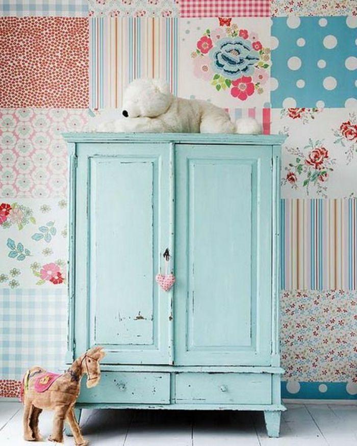 Les 25 meilleures id es de la cat gorie papier peint for Patiner un meuble peint