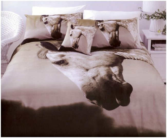 Dapple Horse Quilt Cover Set Available In Single, Double, Queen And King  Bed Sizes