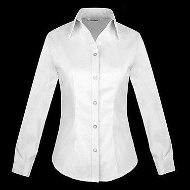 Women's Large Size Blouse Shirt – USD $ 23.99 white or black blend nice shaping