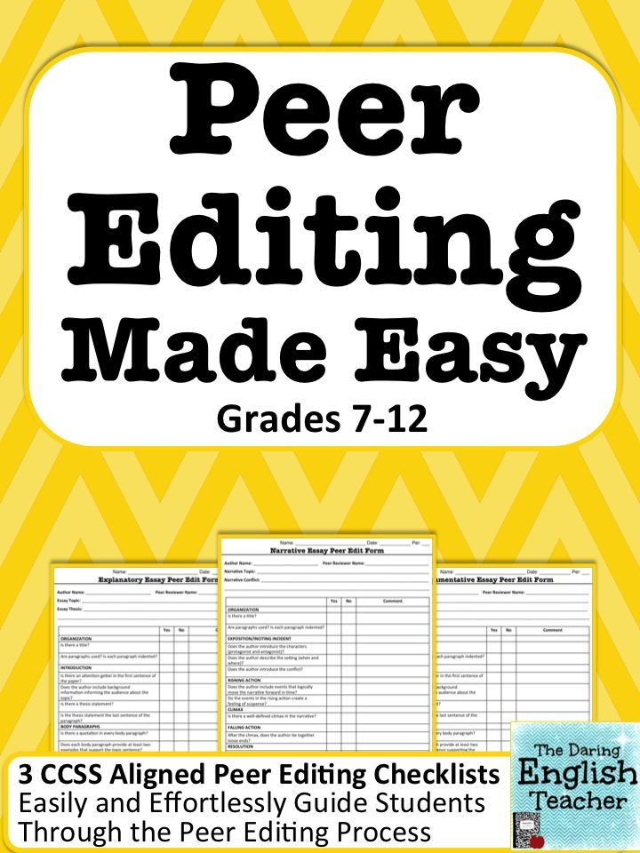 peer editing made easy forms and handouts for an effective peer edit english student and. Black Bedroom Furniture Sets. Home Design Ideas