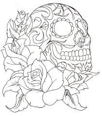 sugar skull coloring pages print - Sugar Skull Coloring Page