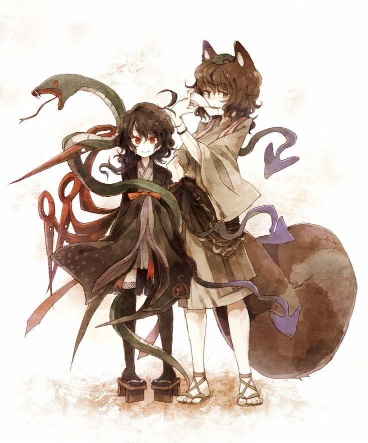 Nue Houjuu and Mamizou Futatsuiwa from  Touhou #Touhou