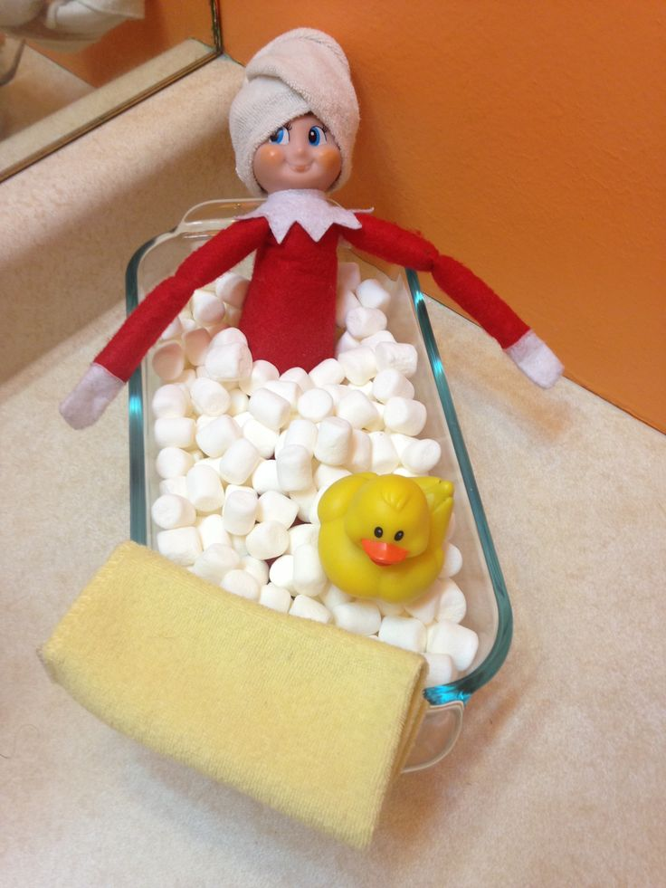 Day 5-Relaxing in a marshmallow bath! Duckie is having fun to!
