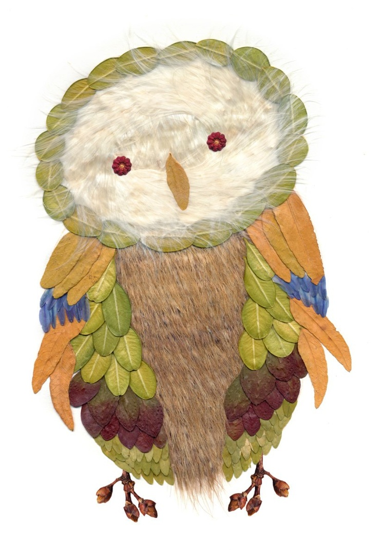 'Pressed Leaf Owl' by Heather Baker