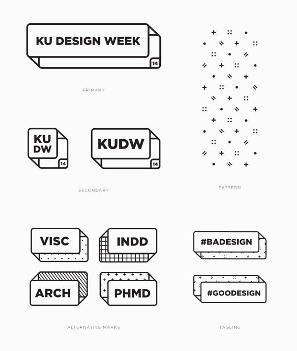 KUDW by Sydney Goldstein, Claire Pederson, Lexi Griffith, Katie Whiteman via Behance... Awesome Ladies from University of Kansas Visual Communication Program