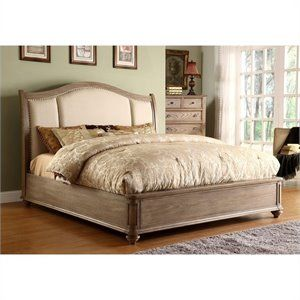 Lowest price online on all Riverside Furniture Coventry Upholstered Storage Sleigh Bed in Driftwood - COVTRYSTRGBED