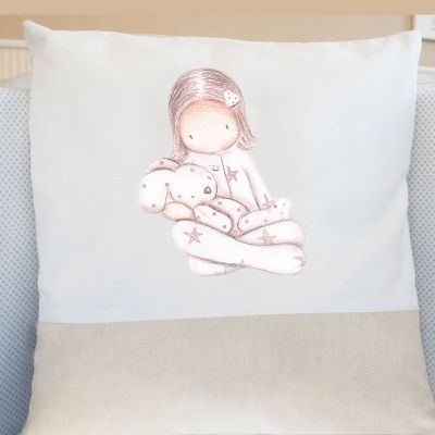 "Cojin infantil Personalizado "" Niña con pijama II"""