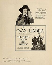"""Max und die drei Musketiere (aka """"The Three Must-Get-There's""""), produced in US, 1922, is a delightful, funny and incredible comedy, starring the great Max Linder."""