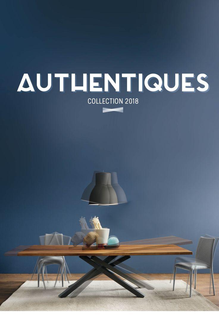 Table Industrielle  Chino. Structure acier, plateau noyer massif écorce épaisseur 4 cm. 200xH75x106 cm. #Authentiques #design #meubles #table #bleu #turquoise #blanc #décorationd'intérieur #déco #coussin #canapé#collection    #tableindustrielle