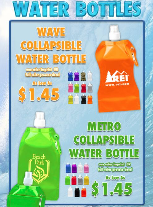 Collapsible Water Bottles with Your Logo!