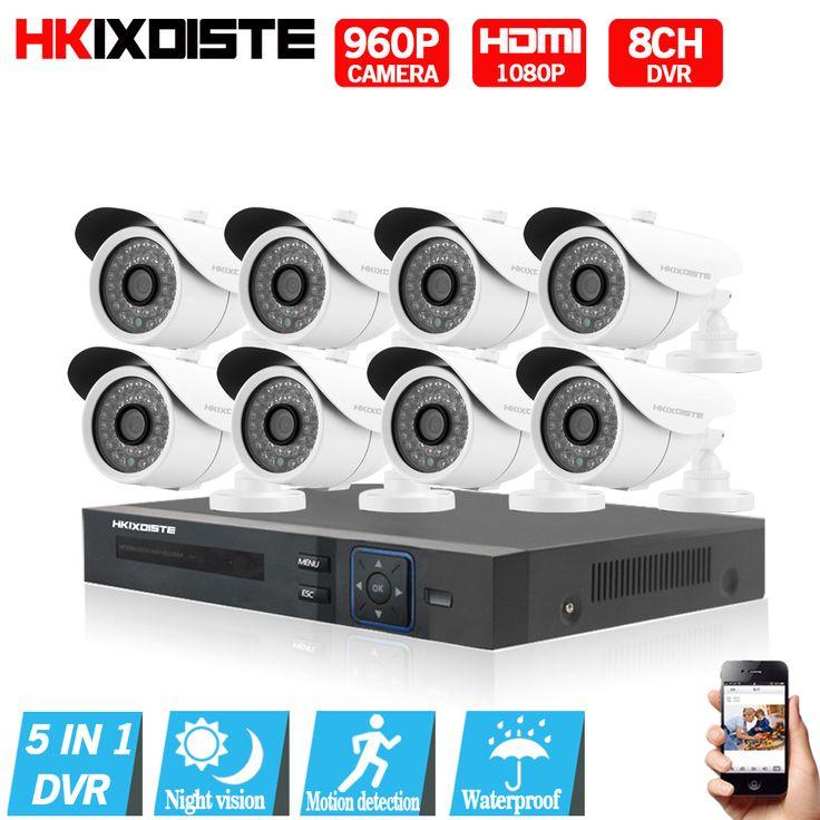 8CH CCTV System 1080P HDMI AHD 8CH CCTV DVR 8PCS 1.3 MP IR Security Camera 2500 TVL CCTV Camera Surveillance System ahd cctv kit #Affiliate