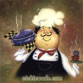 Fat Chef | Vickie Wade Fine Art
