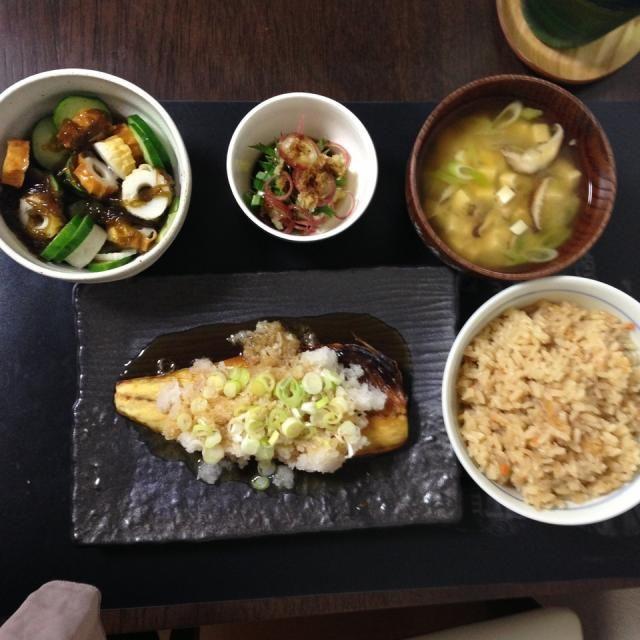 和食〜 - 4件のもぐもぐ - 塩鯖葱ポン by hidekana0330