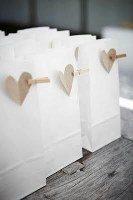 Homemade wedding favour bag