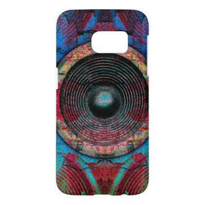 Red music speakers on a cracked wall samsung galaxy s7 case - cool gift idea unique present special diy