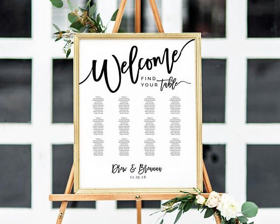 Wedding seating chart ideas templates 2