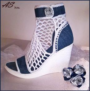 Sandalias de cuña modelo JEANS