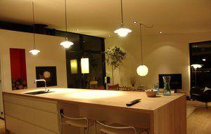 Indendørs belysning i køkken.